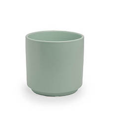 Trend Ceramic Pots - Ceramic Loreto Pot Matte Sea Foam (18DX17.5cmH)