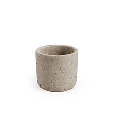 Trend Ceramic Pots - Earthy Cement Yonkers Cylinder Grey(11cmx10cmH)