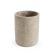 Trend Ceramic Pots - Earthy Cement Yonkers Cylinder Grey (14cmx18cmH)