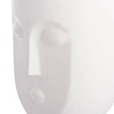 Ceramic Face Pot Lily White (14x13.5x24.5cmH)