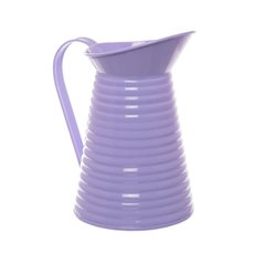 Country Tin Metal Pitcher Lavender (12Dx21cmH)