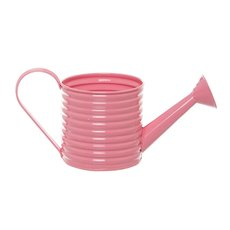 Country Tin Metal Watering Can Soft Pink (11Dx11cmH)