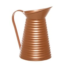 Rustic Tin Metal Pitcher Copper (12Dx21cmH)