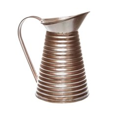 Tin Metal Watering Can & Jug - Rustic Tin Metal Pitcher Rose Gold (12Dx21cmH)