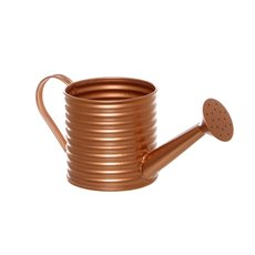 Tin Metal Watering Can & Jug - Rustic Tin Metal Watering Can Copper (11Dx11cmH)