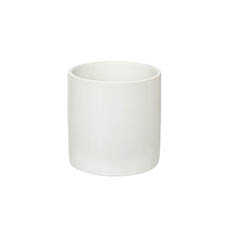 Satin Matte Collection - Ceramic Cylinder Pot Satin Matte White (14x14cmH)