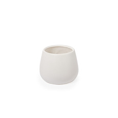 Trend Ceramic Pots - Ceramic Taron Belly Pot Matte White (13x10cmH)