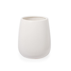Trend Ceramic Pots - Ceramic Taron Belly Pot Matte White (15.5x18cmH)