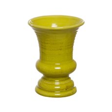Ceramic Elegant Urn Flared 15.5Dx20.5cmH Lime