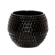 Ceramic Elegant Diamond Fish Bowl Black (17Dx14cmH)