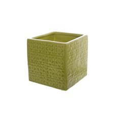 Ceramic Tile Cube Green (13x13x12cmH)