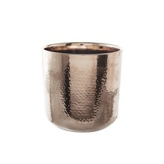 Metallic Pots - Ceramic Metallic Cylinder Pot Rose Gold (15.5x15cmH)
