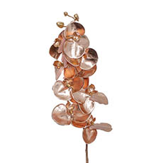 Artificial Orchids - Phalaenopsis Orchid 9 Flowers Metallic Rose Gold (75cmH)