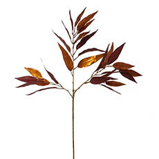 Artificial Metallic Leaves - Willow Eucalyptus Leaves Spray Metallic Copper (90cmH)