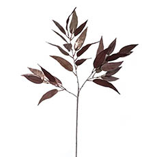Artificial Metallic Leaves - Willow Eucalyptus Leaves Spray Metallic Silver (90cmH)