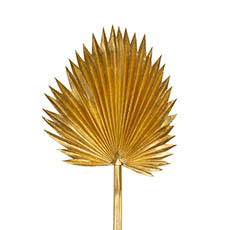 Artificial Leaves - Fan Palm Stem Metallic Gold (92cmH)