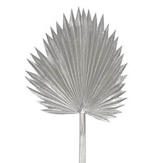 Artificial Leaves - Fan Palm Stem Metallic Silver (92cmH)