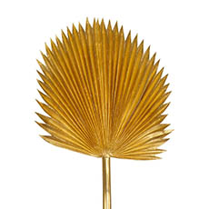 Artificial Leaves - Fan Palm Stem Metallic Gold (116cmH)