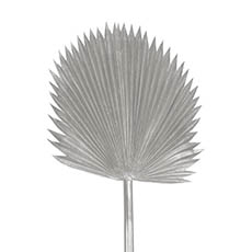Artificial Leaves - Fan Palm Stem Metallic Silver (116cmH)