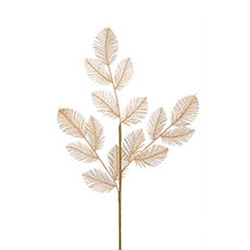 Artificial Metallic Leaves - Fern Leaf Spray Metallic Gold (75cmH)
