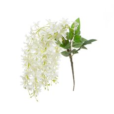 Artificial Orchids - Dendrobium Star Orchid White (60cmH)