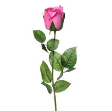 Siena Rose Bud Large Real Touch Hot Pink (75cmH)