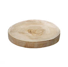 Wood Slices & Other Naturals - Natural Wood Slice Round Brown (Approx. 30cmx4cmH)