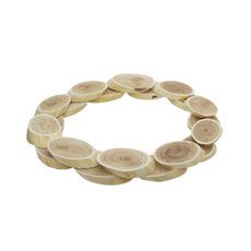 Natural Log Wreath Decoration (41x3cmH)