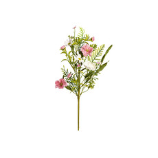 Other Artificial Flowers - Artificial Flower Spring Floral Pink and White Spray (55cm)
