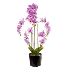 Artificial Orchids - Phalaenopsis Orchid Potted Real Touch 33Flowers Pink (90cm)