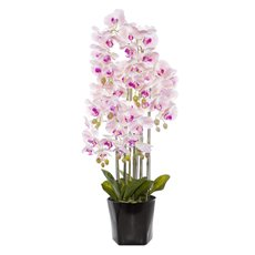 Artificial Orchids - Phalaenopsis Orchid Potted Real Touch 54 Flowers LtPink(95cm