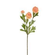 Other Artificial Flowers - Petite Ranunculus Spray Coral (42cmH)