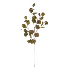 Artificial Leaves - Eucalyptus Silver Dollar Spray Green Red (90cmH)