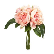 Artificial Peony Bouquets - Peony Bouquet Kiara 6 Heads Light Pink (35cm)