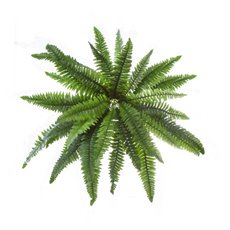 Artificial Leaves - Hanging Plants Boston Fern Bush Green (50cmD)