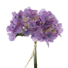 Artificial Hydrangea Bouquets - Hydrangea Victoria Bouquet Purple (32cmH)