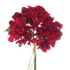 Artificial Hydrangea Bouquets - Hydrangea Victoria Bouquet Red (32cmH)
