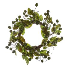 Gumnut Wreath with Leaves Green (60cm)