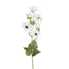 Other Artificial Flowers - Inaya Anemone Spray White (95cmH)