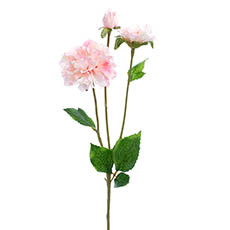 Other Artificial Flowers - Barla Zinnia Spray Light Pink  (67cmH)