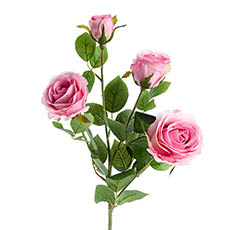 Artificial Roses - Gardenia Rose Spray Pink (78cmH)