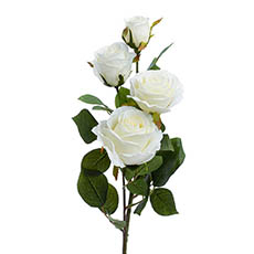 Artificial Roses - Gardenia Rose Spray White (78cmH)