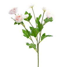 Artificial Ranunculus - Mini Ranunculus Spray Light Pink (67cmH)