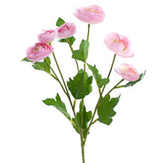 Artificial Ranunculus - Mini Ranunculus Spray Pink (67cmH)