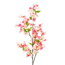 Other Artificial Flowers - Dogwood Flower Spray Pink (103cmH)