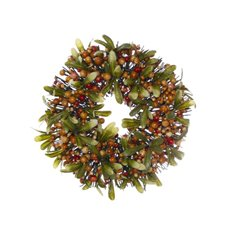 Christmas Wreath - Garden Fresh Berry Candle Ring Autum (30cm)