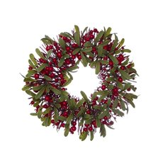 Christmas Wreath - Garden Fresh Christmas Candle Ring Berry Delight Red (30cm)