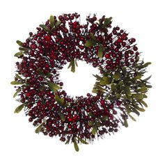 Home Seasonal Decorations - Garden Fresh Wreath Berry Fusion Red (45cm)