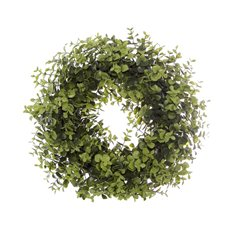 Artificial Leaves - Eucalyptus Wreath Green (40cm)