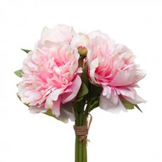 Peony Amber Bouquet Pink (26cmH)
